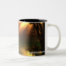 fishing, fathers, sons, solace, pond, children, Mug with custom graphic design