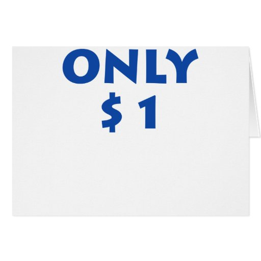 Solamente $1 tarjeton