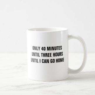 Solamente 40 minutos hasta 3 horas hasta que vaya taza básica blanca