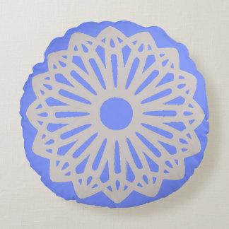 Solamente almohadas azules de la silueta del cojín redondo