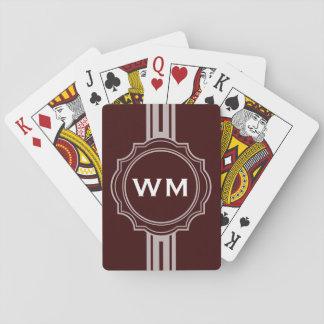 SOLAMENTE COLOR/blanco de la BANDERA del BOTÓN + m Cartas De Póquer
