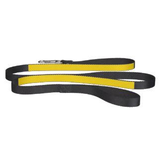 Solamente color sólido amarillo correas de perro