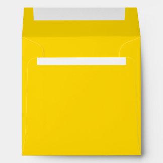 Solamente color sólido bonito amarillo limón sobres