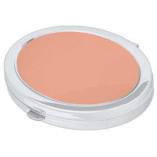 Solamente color sólido bonito OSCB17 del rosa de Espejos Maquillaje