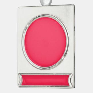 Solamente color sólido bonito rosado fucsia OSCB06 Adornos Personalizables