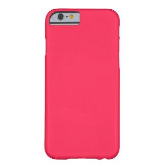 Solamente color sólido bonito rosado fucsia OSCB06 Funda Barely There iPhone 6