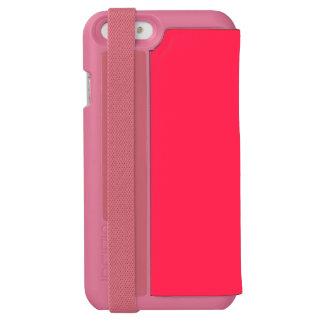Solamente color sólido bonito rosado fucsia OSCB06 Funda Billetera Para iPhone 6 Watson
