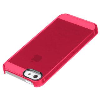 Solamente color sólido bonito rosado fucsia OSCB06 Funda Clear Para iPhone SE/5/5s