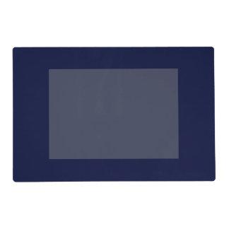 Solamente color sólido de la marina de guerra azul tapete individual