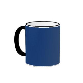 Solamente color sólido del azul de cobalto tazas