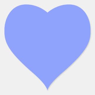 Solamente color sólido del bígaro pegatina corazon personalizadas