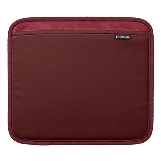 Solamente color sólido del ladrillo rojo fundas para iPads