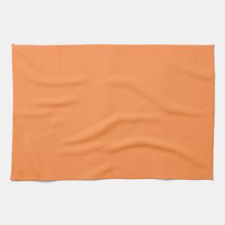 Solamente color sólido del melón toallas
