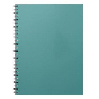 Solamente color sólido del seafoam magnífico de la note book