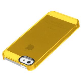 Solamente color sólido elegante OSCB28 del oro Funda Clearly™ Deflector Para iPhone 5 De Uncommon