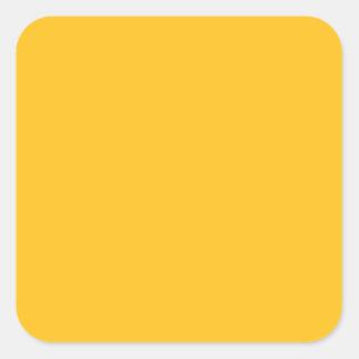 Solamente color sólido elegante OSCB28 del oro Pegatina Cuadrada