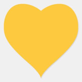 Solamente color sólido elegante OSCB28 del oro Pegatina En Forma De Corazón