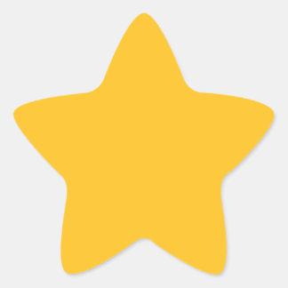 Solamente color sólido elegante OSCB28 del oro Pegatina En Forma De Estrella
