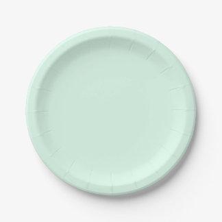 Solamente color sólido en colores pastel bonito plato de papel de 7 pulgadas