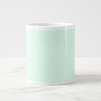 Solamente color sólido en colores pastel bonito taza grande