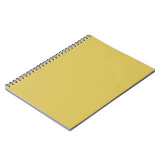 Solamente color sólido fresco amarillo de la libros de apuntes con espiral