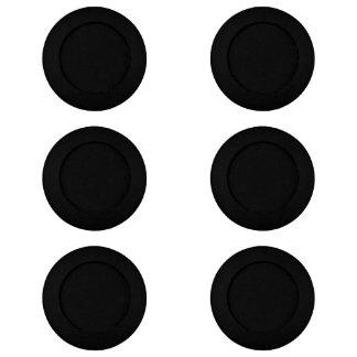 Solamente color sólido fresco negro OSCB18 Paquete Pequeño De Tapa Botones