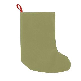 Solamente color sólido fresco OSCB24 del verde Calcetín De Navidad Pequeño