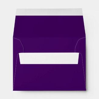 Solamente color sólido fresco profundo púrpura sobres