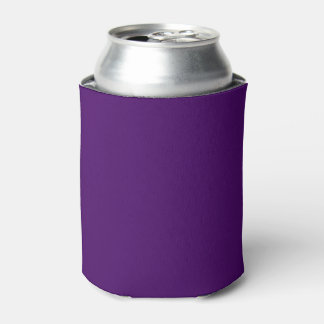 Solamente color sólido fresco profundo púrpura enfriador de latas