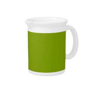 Solamente color sólido fresco verde jarras de beber