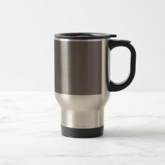 Solamente color sólido gris de aluminio tazas