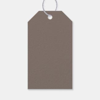 Solamente color sólido magnífico de color topo etiquetas para regalos