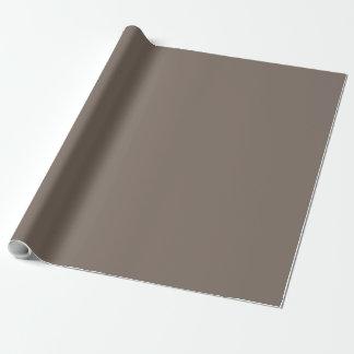 Solamente color sólido magnífico de color topo papel de regalo