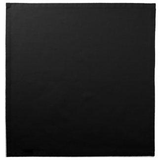 Solamente color sólido negro fresco OSCB18 Servilletas De Papel