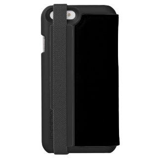 Solamente color sólido negro funda cartera para iPhone 6 watson