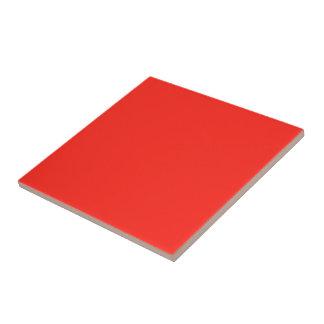 Solamente color sólido rústico del tomate rojo azulejo cuadrado pequeño