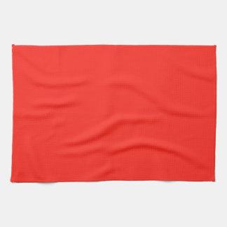 Solamente color sólido rústico del tomate rojo toallas de mano