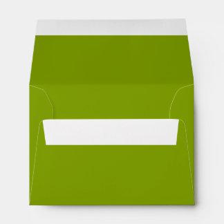 Solamente color sólido rústico fresco verde OSCB43 Sobre