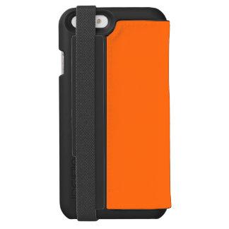 Solamente color sólido simple anaranjado brillante funda billetera para iPhone 6 watson