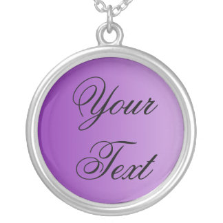 SOLAMENTE COLOREE las pendientes púrpuras + su tex Collar Plateado