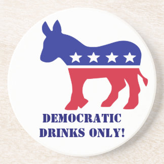 Solamente Demócratas pueden beber en mi casa Apoyavasos