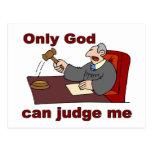 Solamente dios puede juzgarme el decir cristiano postal