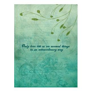 Solamente el amor nos dejó nosotros considerar cos postal