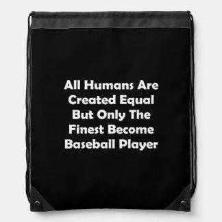 Solamente el jugador de béisbol convertido más mochilas