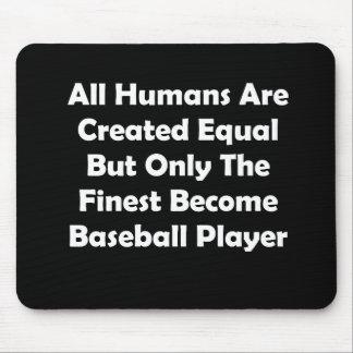 Solamente el jugador de béisbol convertido más tapete de ratón