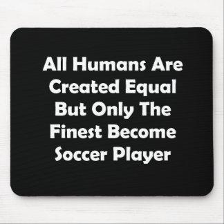 Solamente el jugador de fútbol convertido más fino tapete de ratones