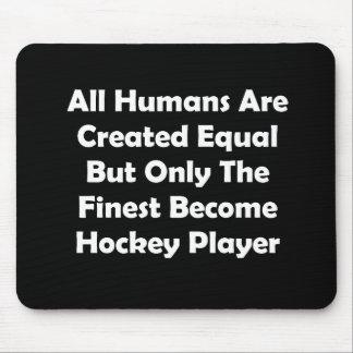 Solamente el jugador de hockey convertido más fino mouse pad