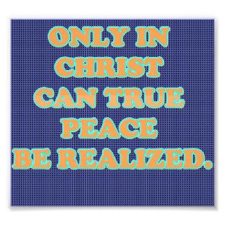 Solamente en Cristo puede verdad paz se observe Cojinete