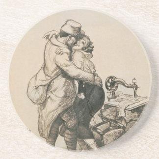 Solamente en el dibujo pasado de la Primera Guerra Posavasos Personalizados