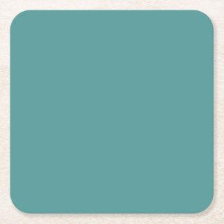Solamente fondo ciánico oscuro del color sólido de posavasos desechable cuadrado